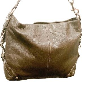 NWOT COACH CHAIN BROWN PEBBLED LEATHER BAG